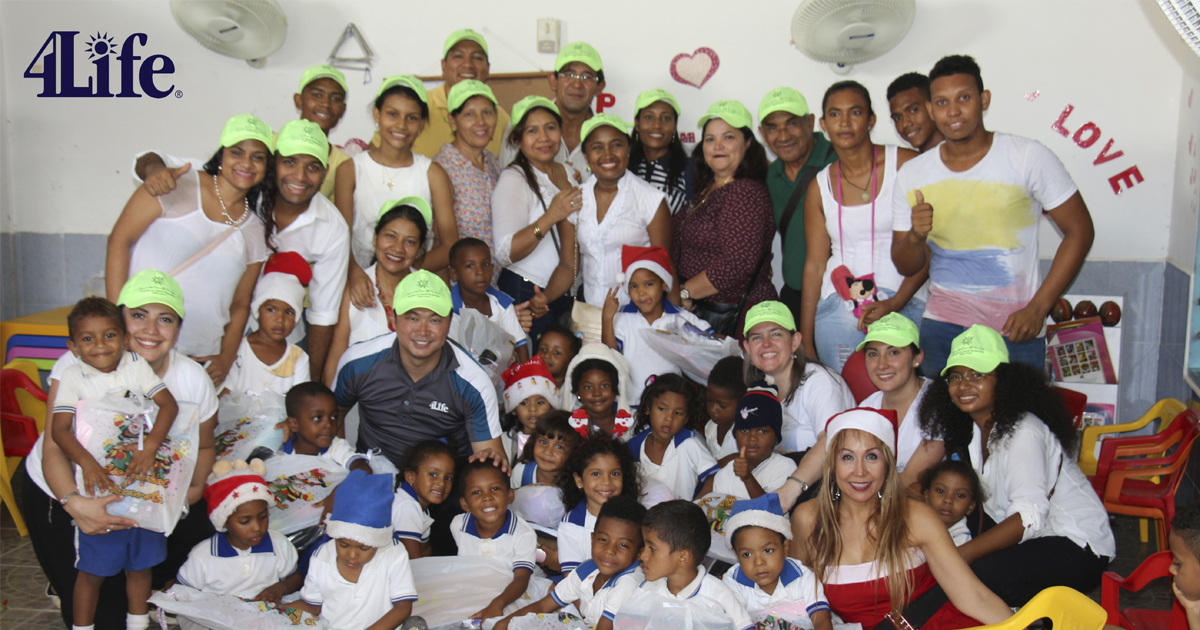 4life Colombia colabora de Aldeas Infantiles SOS