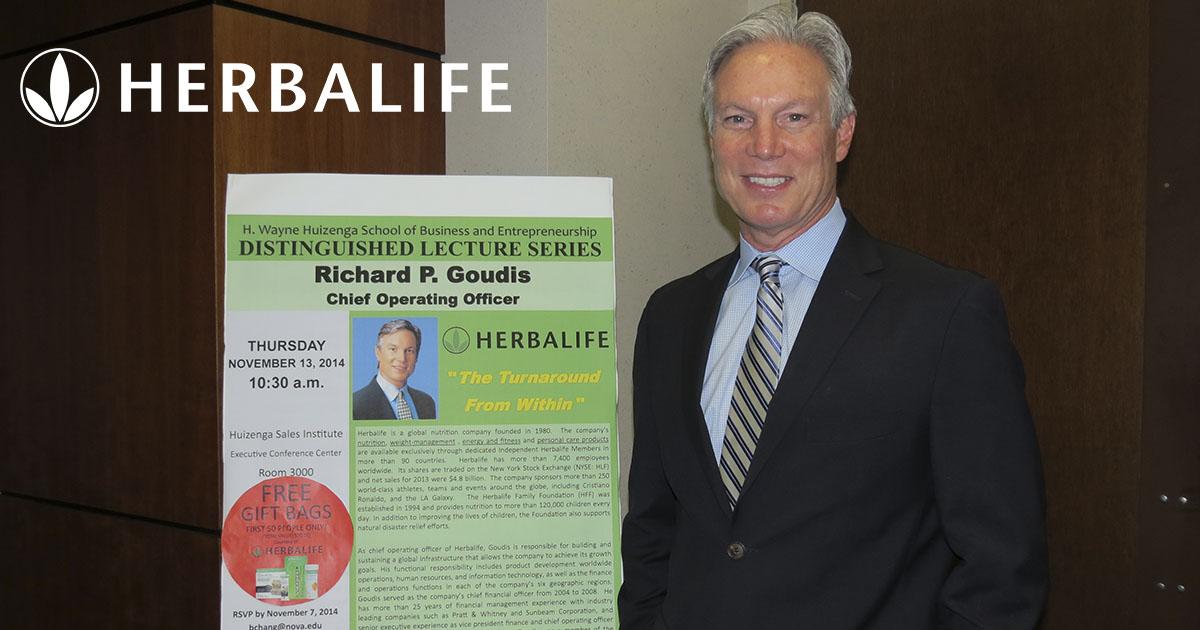 Rich Goudis, nuevo CEO de Herbalife