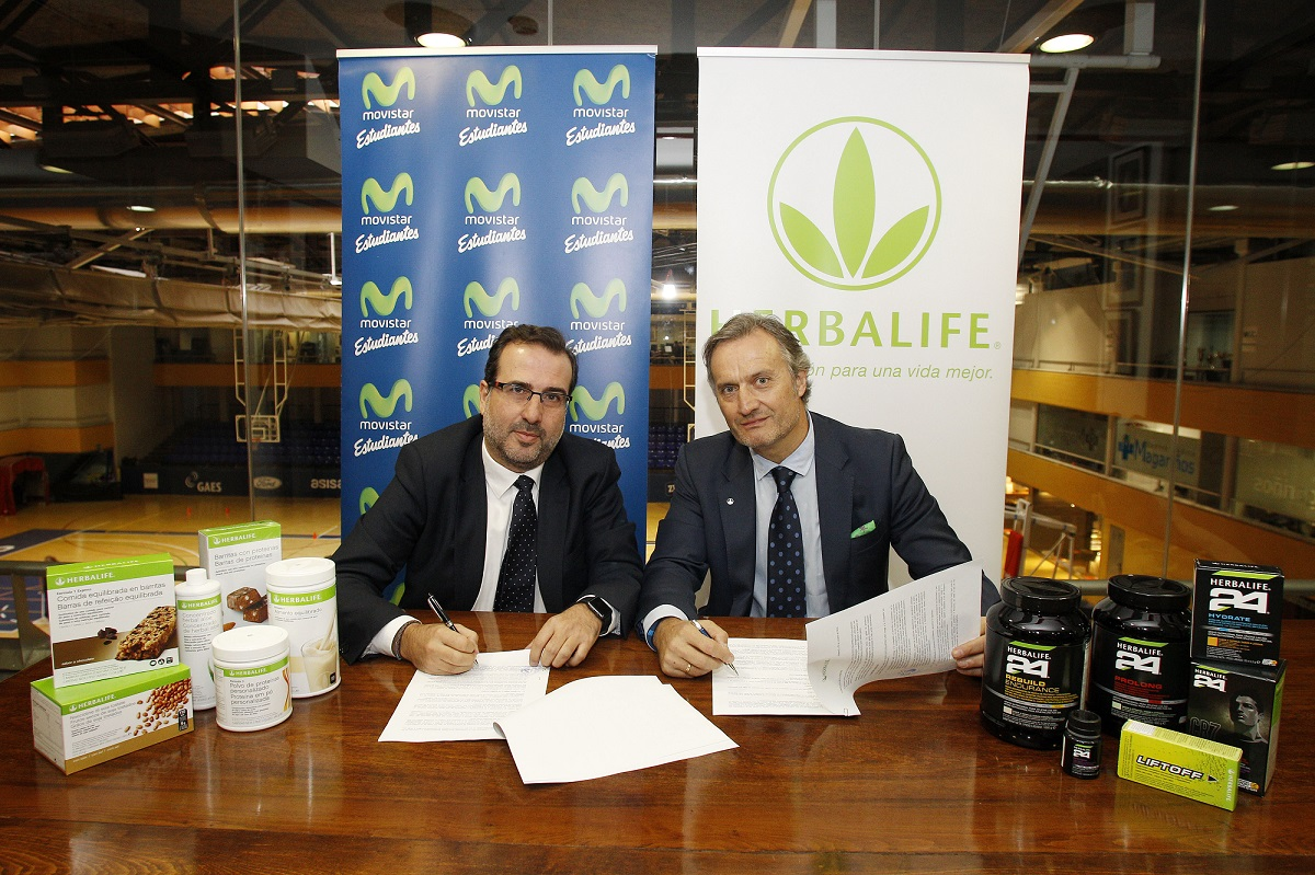 José Asensio, director general Movistar Estudiantes y Carlos Barroso, director general de Herbalife España