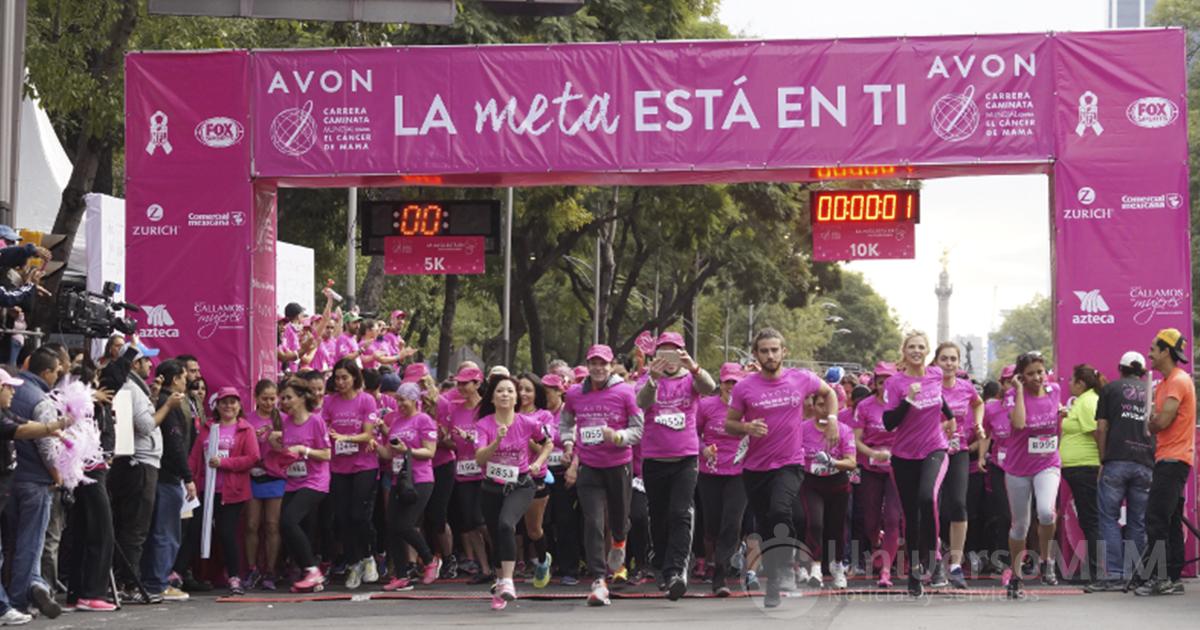 Comienzo de la carrera-caminata contra en cáncer