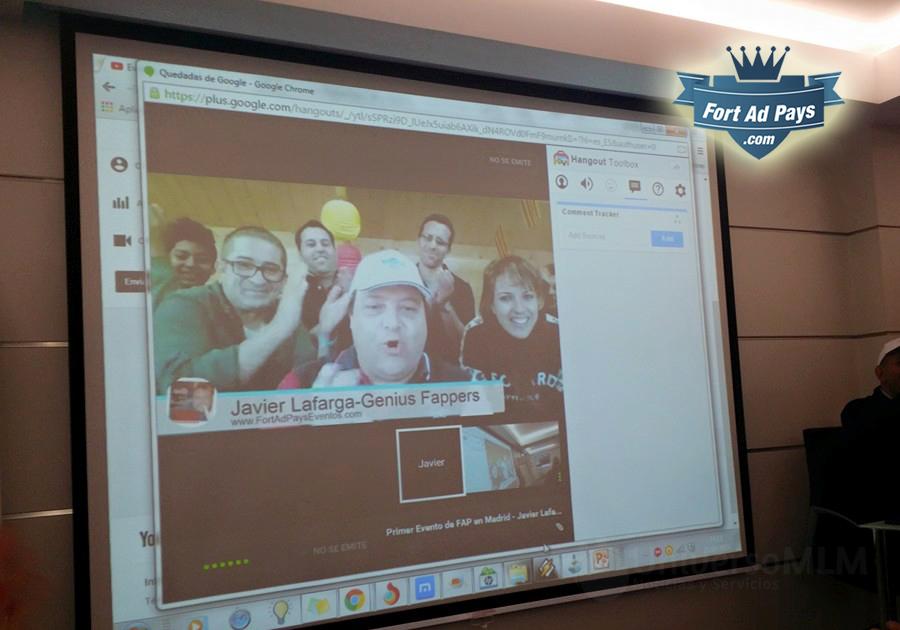 Líderes de FAP en videollamada durante el evento