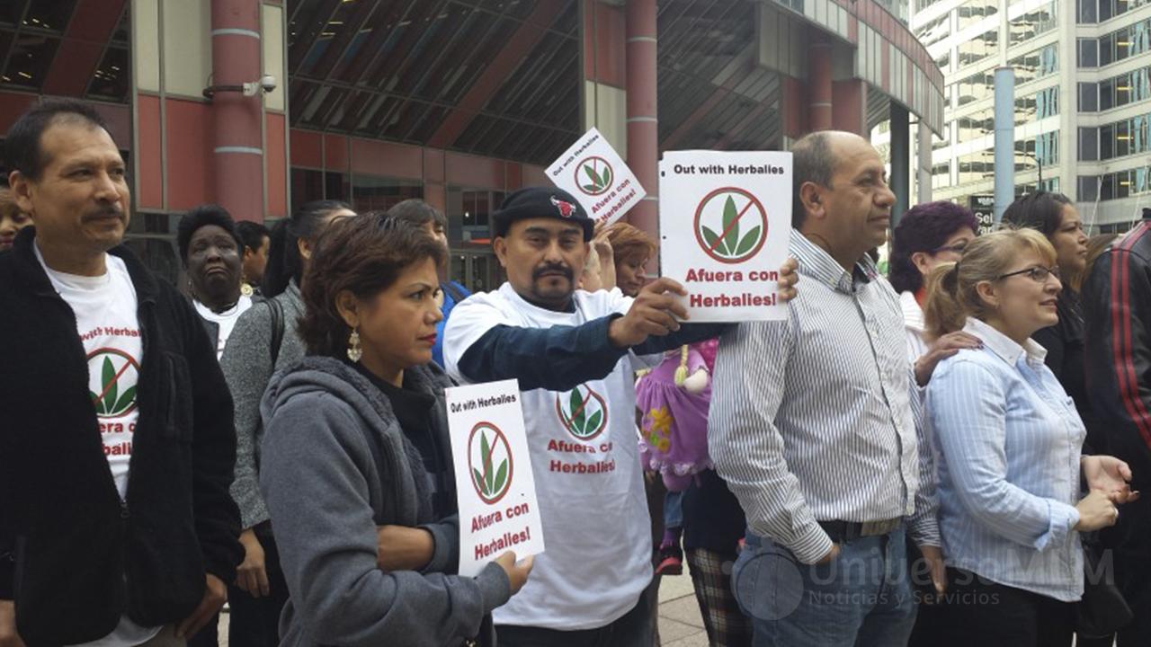 Activistas contra Herbalife en Estados Unidos