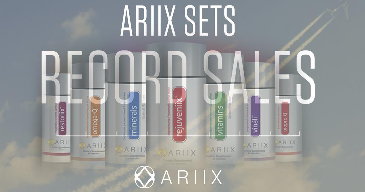 ARIIX consigue los mejores datos de su historia en ventas