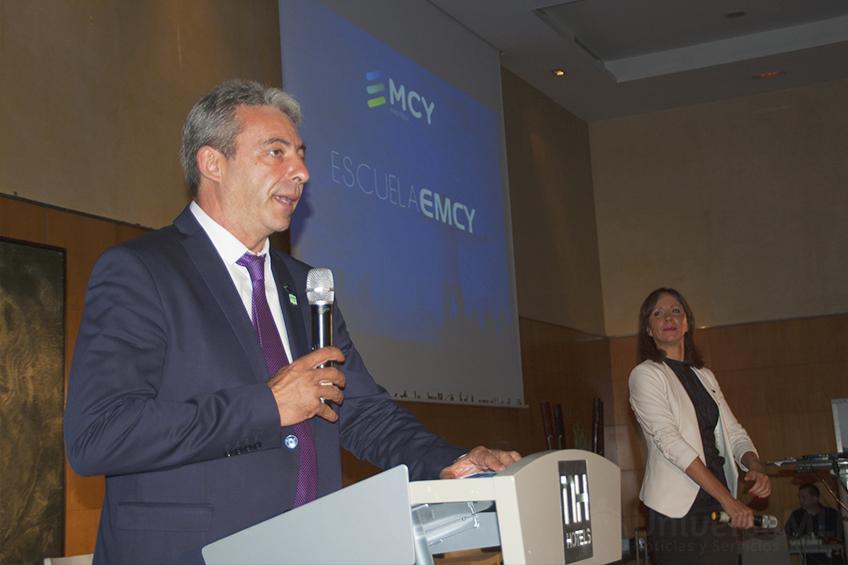 Sebastián Sánchez y Alejandra Caparrós, directivos de EMCY