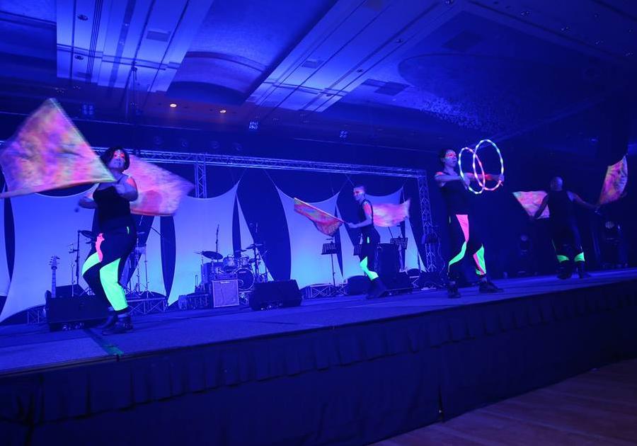 Imagen de un espectáculo ofrecido en el evento