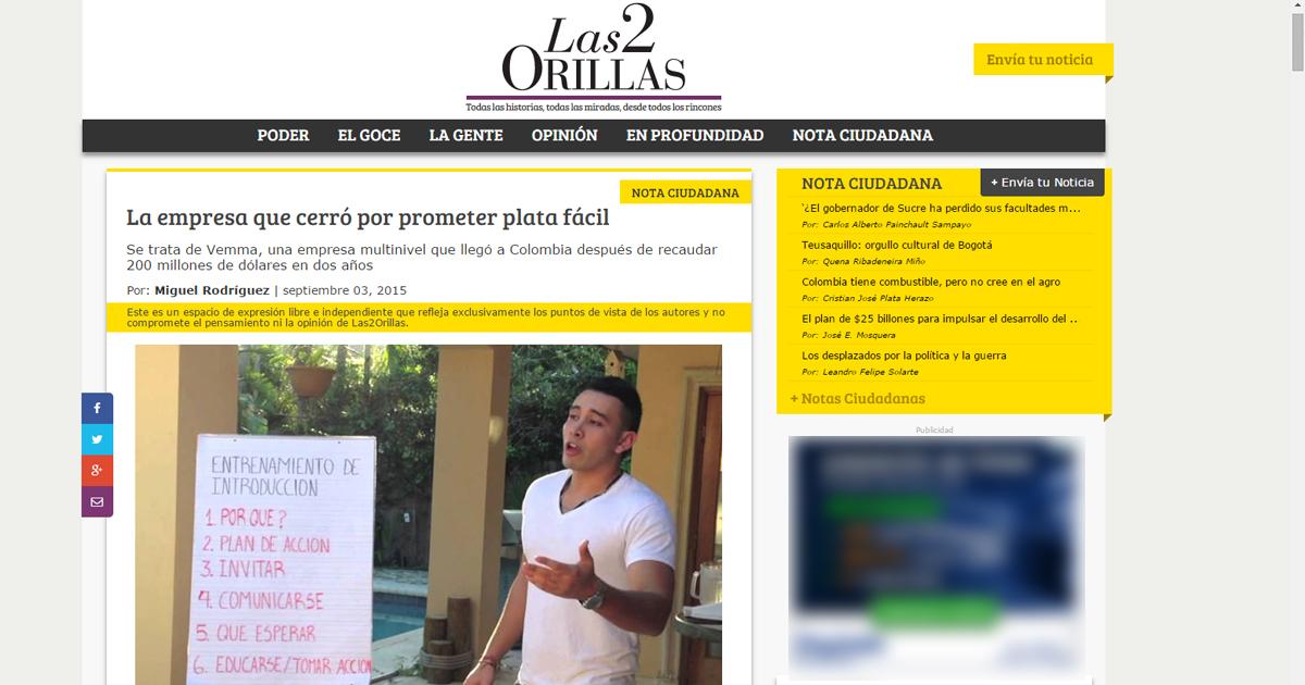 El desafortunado artículo publicado por Las2orillas