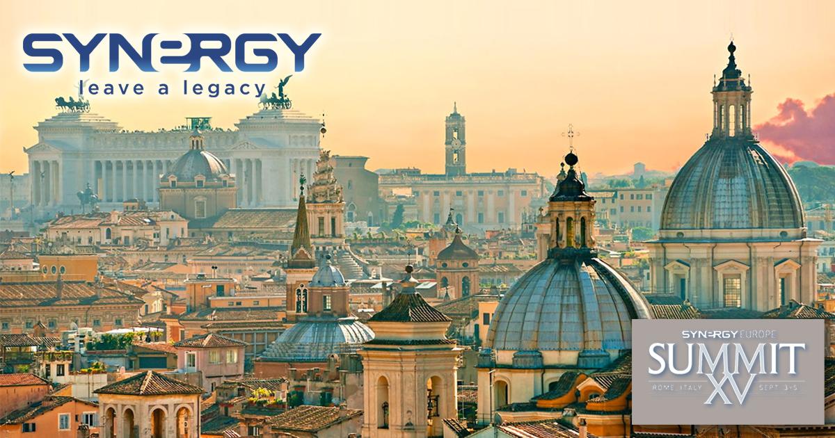 Roma será la sede de la Cumbre europea de Synergy Worldwide