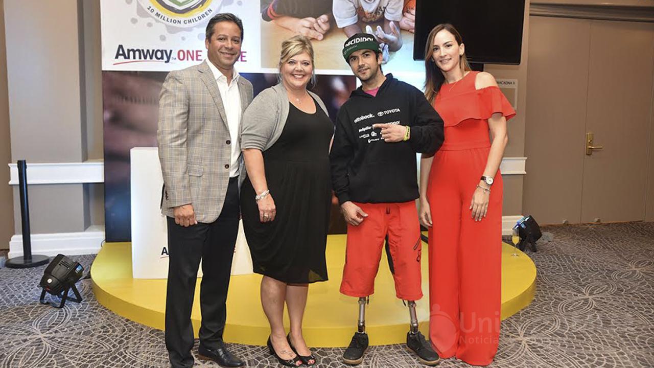Rubén Familia, Angie Polsgrove, Adolfo Almánzar y Yolanda Linares