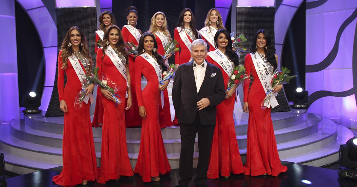 Las concursantes y ganadoras en la gala de Miss venezuela